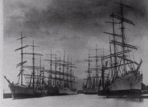 Ships leaving Port Talbot, c1885
