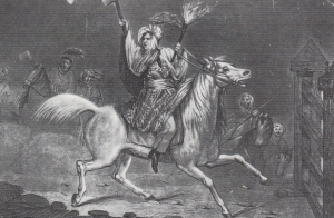 'Rebecca' leading the riots in 1839.