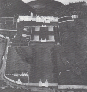 South view of the old house at Margam, c1700